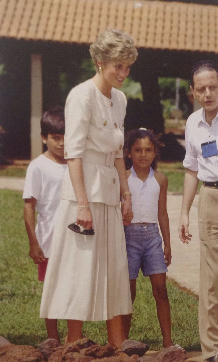 April 23, 1991: Princess Diana and Prince Charles on Royal Tour in Caracas, Brazil.