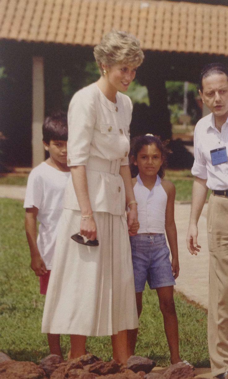 April 23, 1991: Princess Diana and Prince Charles on Royal Tour in Caracas, Brazil.