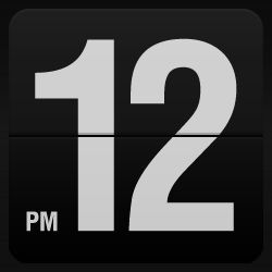 Fliqlo: flip clock screensaver.  Free download for Mac and Windows.