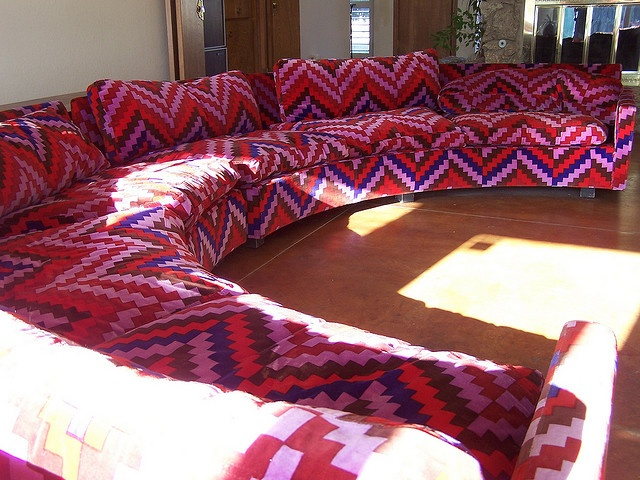 jesus christ, this couch #couch #70s couch #retro furniture