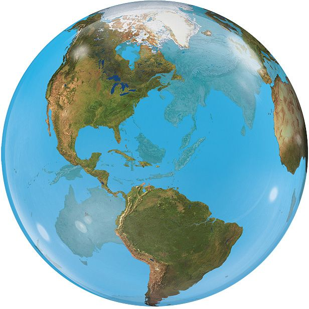 Our large planet earth globe balloon is sent already inflated with helium in a large stripy gift box. Order your planet earth globe balloon online or by telephone for fast UK delivery.