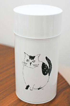 松尾ミユキ コーヒー缶 CAT スリムL - 海外のブロカント(ヴィンテージ)猫雑貨、オリジナルネコグッズ、ネコと暮らすインテリアの店 La Maison du Chat Noir|ラ・メゾン・デュ・シャノワール(大阪 北浜)