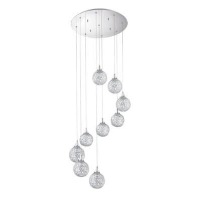 Designers Choice Collection Solaro Series 9 Light Chrome Pendant Park CityHome DepotDesignersSuspension