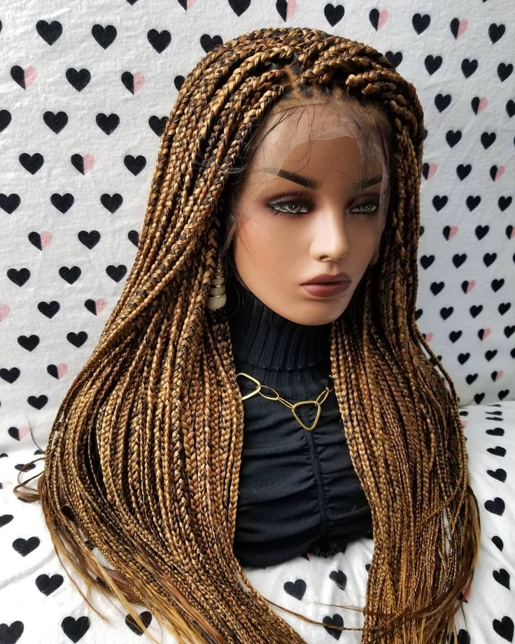 Full Lace Box Braids Braided Lace Wig color 1b/27/30