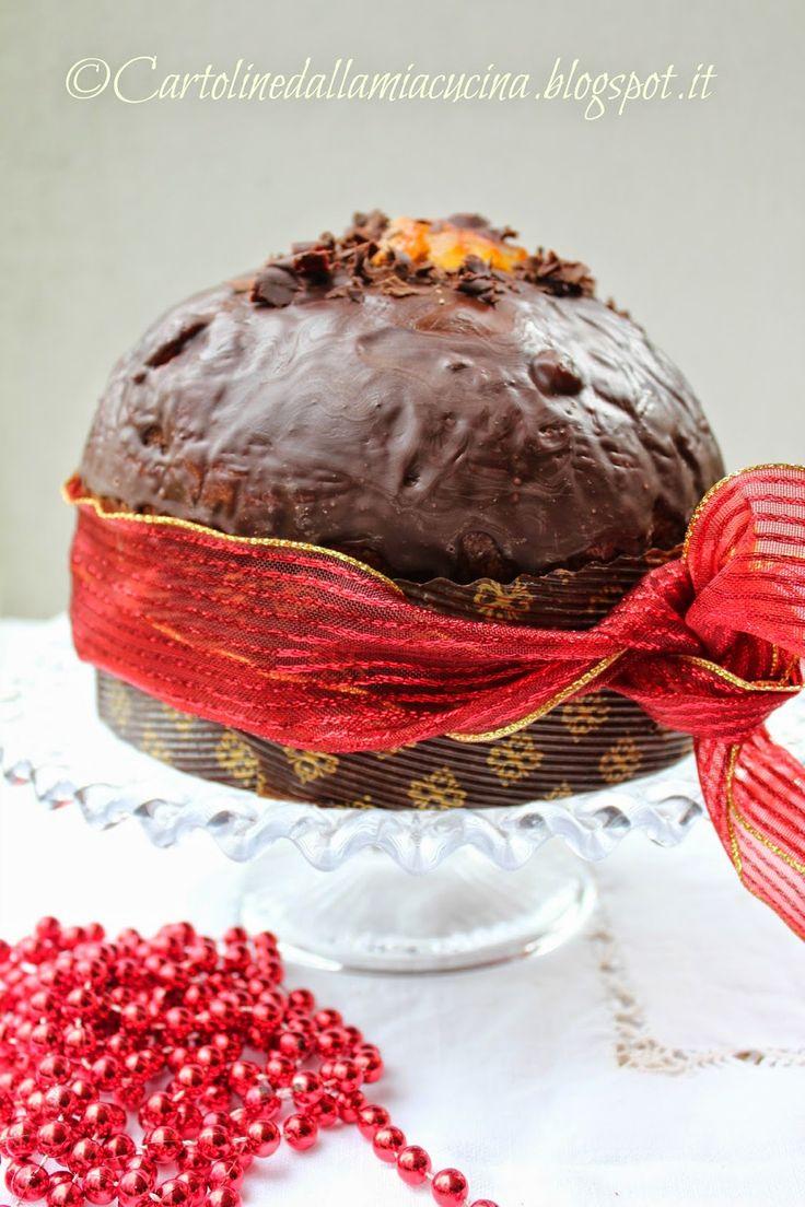 Cartoline dalla mia Cucina: Panettone al cacao e arancia a lievitazione natura...
