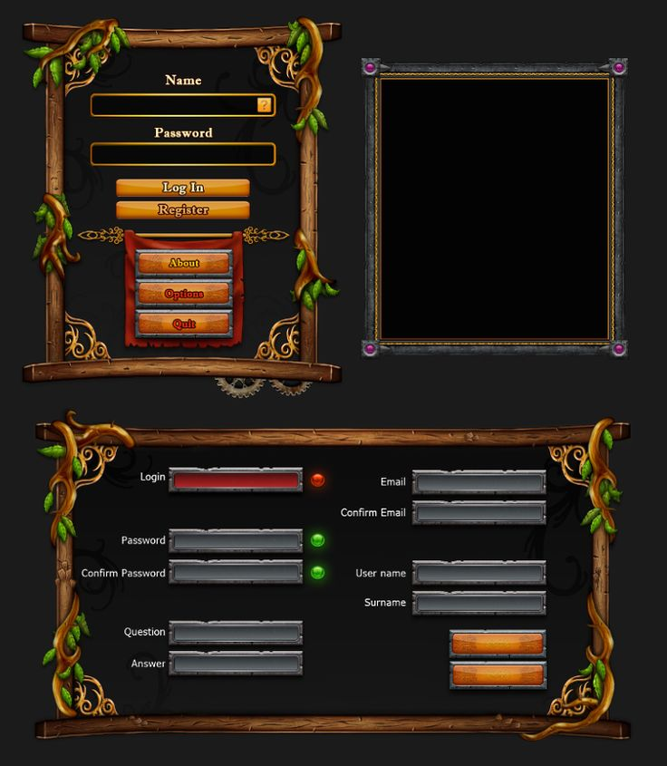 Game interface dialog by ~Rav3nway on deviantART