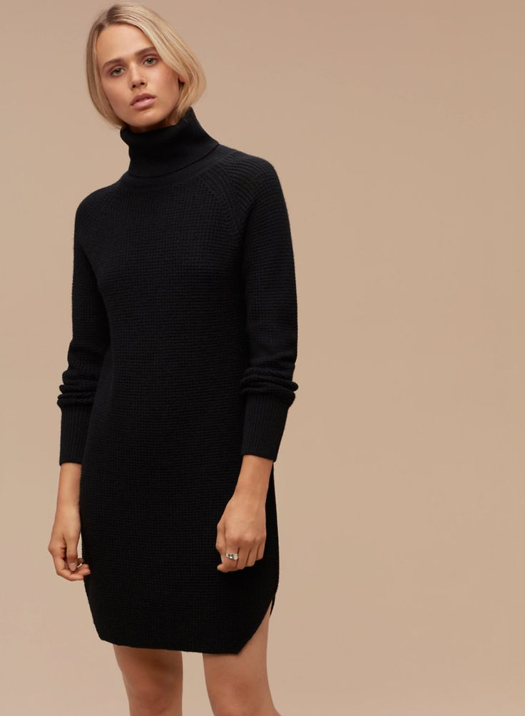 how to wear a turtleneck dress