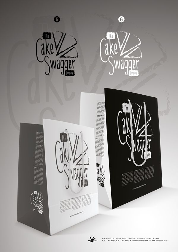 The Cake Swagger Company Branding by Mike Lisowski, via Behance