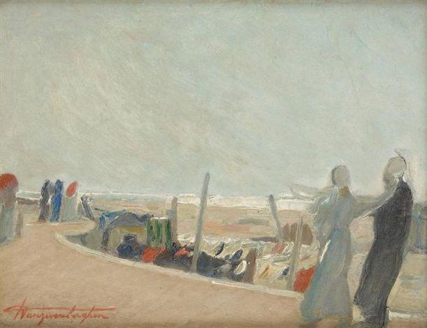 Jour venteux au Coq-sur-Mer by Georges Antoine van Zevenberghen