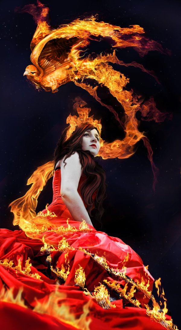 """Fire:  """"Queen of the Fire Bird,"""" by =RomanticFae."""