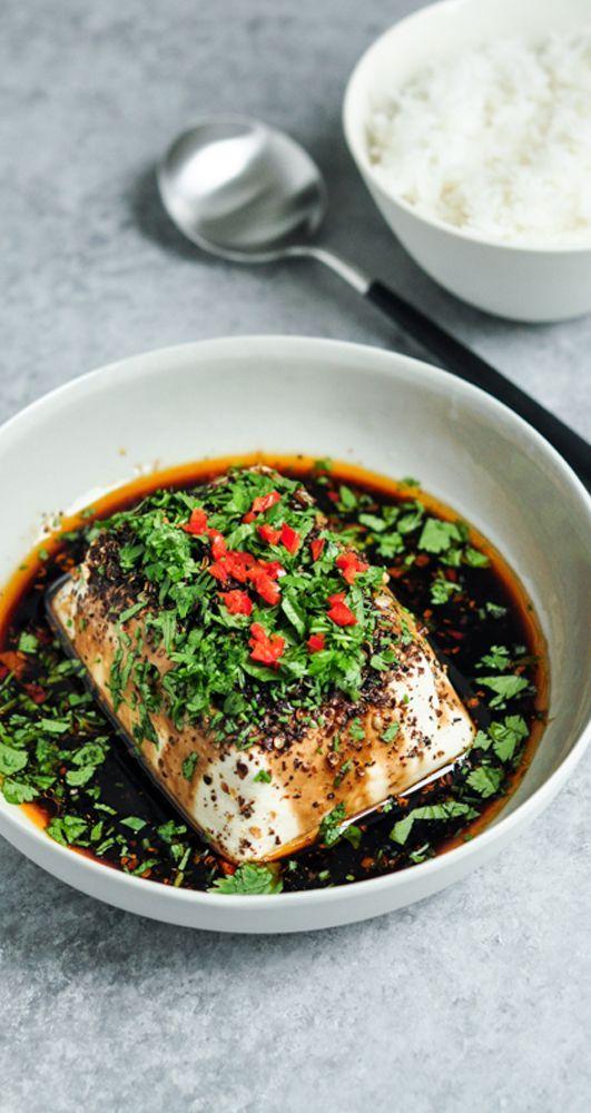 Steamed Tofu with Soy, Chillies & Sichuan Pepper | http://eatlittlebird.com