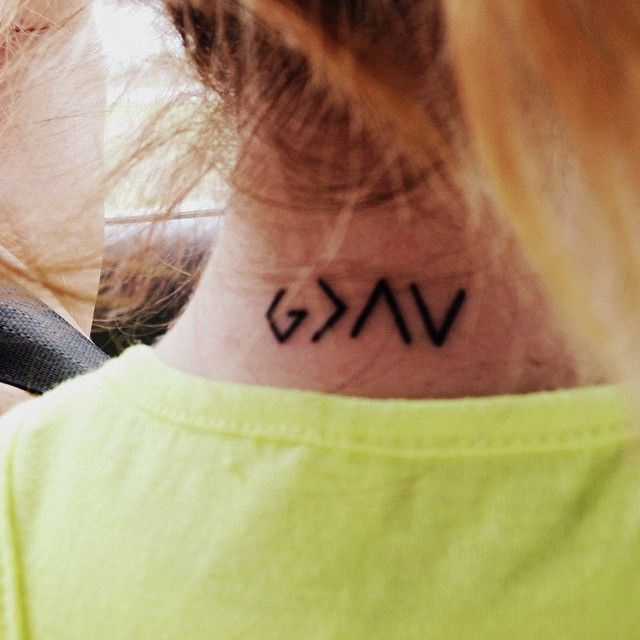 14 Amazing Greater Than Tattoo Ideas For Your Inspiration