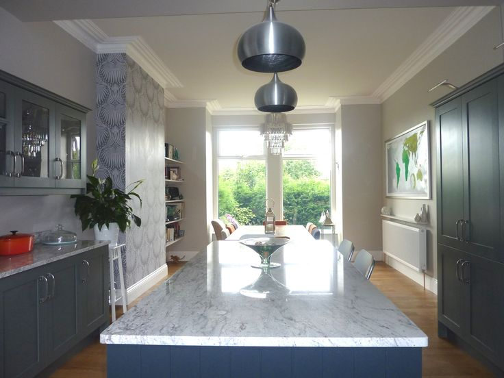 Farrow and Ball grey kitchen dining room