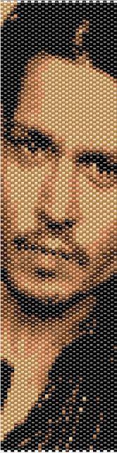 P@tty Perline : Pattern Free                                 Beaded bracelet with the divine Johnny Depp's likeness.