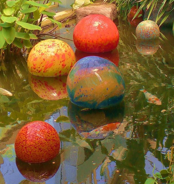 Floating Gazing Balls | Estanques Y Plantas Acuaticas | Pinterest | Pond,  Gardens And Garden Oasis