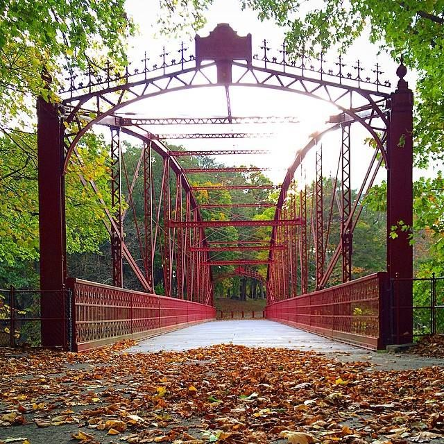 Take a hike though Lovers Leap State Park in New Milford, CT together! Don't miss crossing this beautiful iron bridge over the Housatonic River.