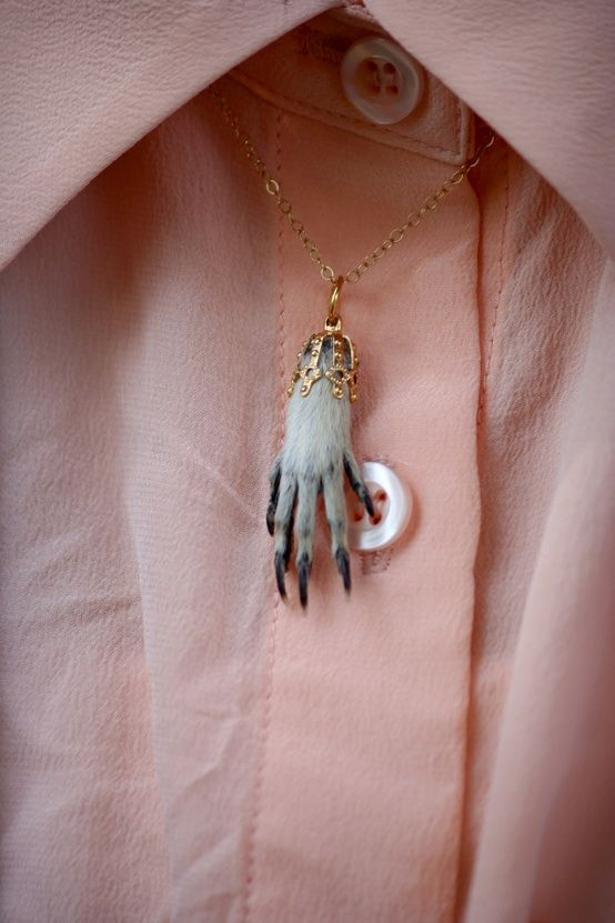 "Taxidermy jewelry? No, thank you. This site, ""Pinterest, You Are Drunk"", has lots of gems like this."