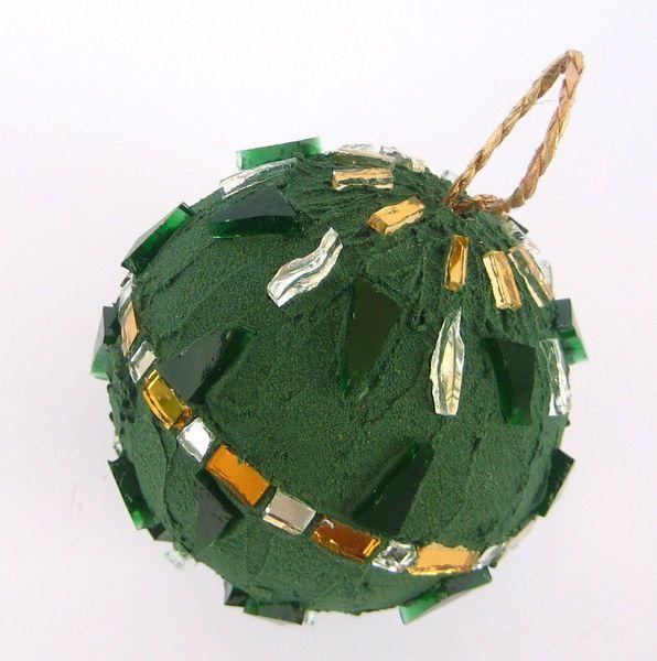 Pallina di Natale Verde&Oro di MicaMosaico su DaWanda.com