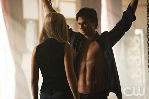 Ian Somerhalder: The Vampires Diaries, Chains Damon, Damon Tvd, Damon Salvation, Rebekah Damon, Claire Holt, Tvd Cast, Vampires Boys, Ian Somerhalder
