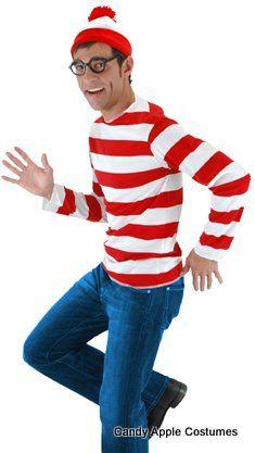 Adult Where's Waldo Costume - Candy Apple Costumes - Where's Waldo and Wenda Costumes