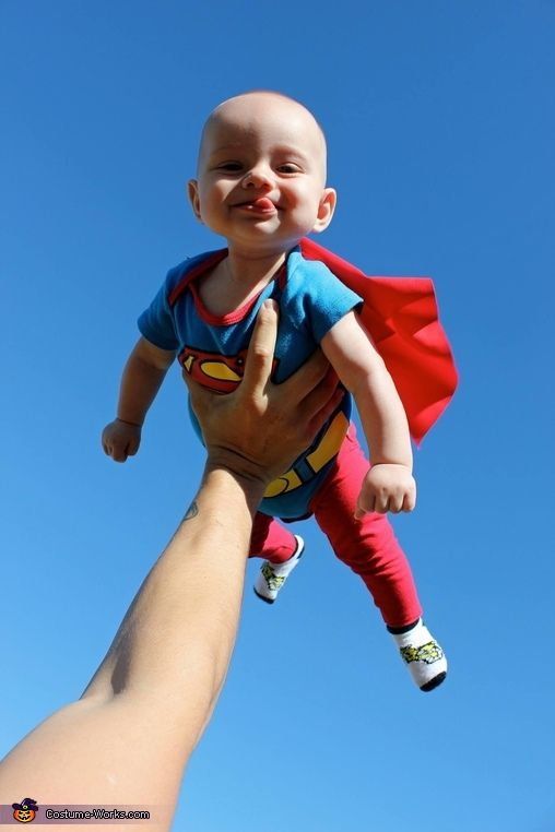Megan: This was my son Gregorys first Halloween. We dressed him up like Superman and he had a blast with all the pictures!.