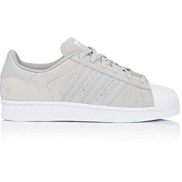 adidas Women's Women's Superstar Suede Sneakers (€72) ❤ liked on Polyvore featuring shoes, sneakers, perforated sneakers, laced up shoes, lace up sneakers, suede low top sneakers and adidas shoes