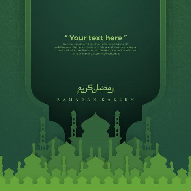 Islamic Green Background With Mosque Green Backgrounds Mosque Ramadan Kareem