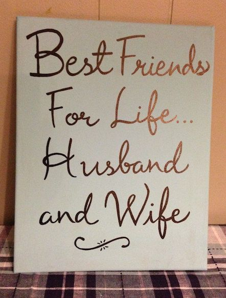Best Friends For Life Husband And Wife Wedding Gift