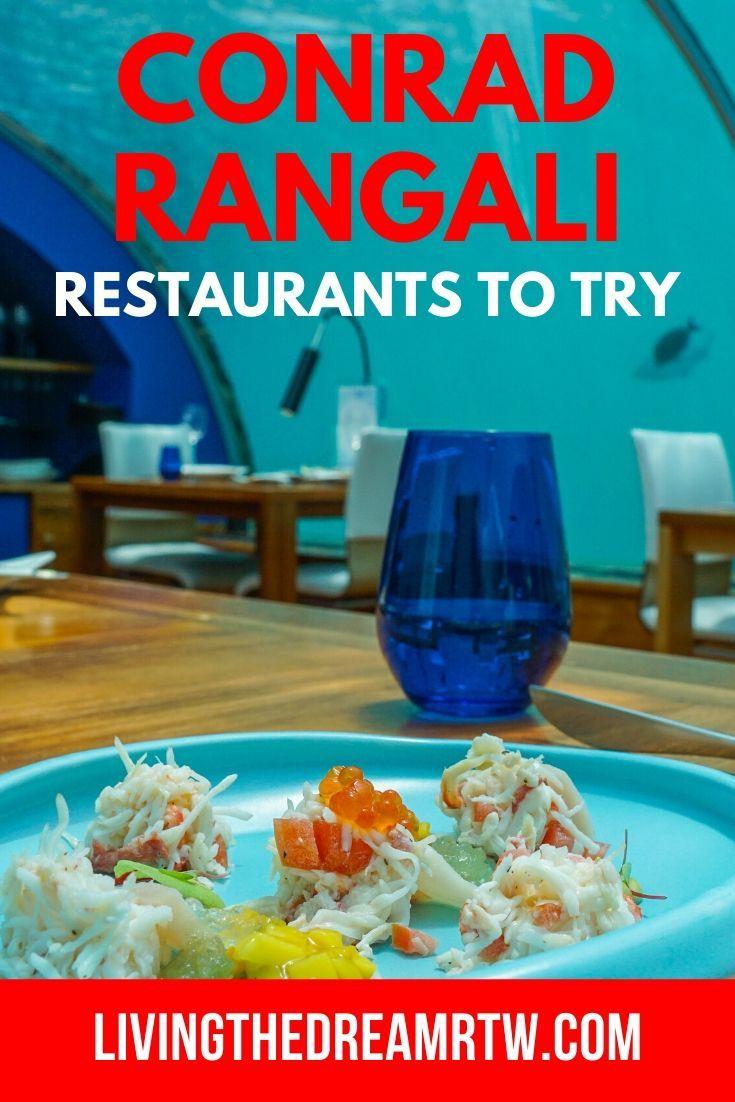 Conrad Maldives Restaurant Reviews Which Are Worth It In 2020 Foodie Travel Underwater Restaurant Maldives