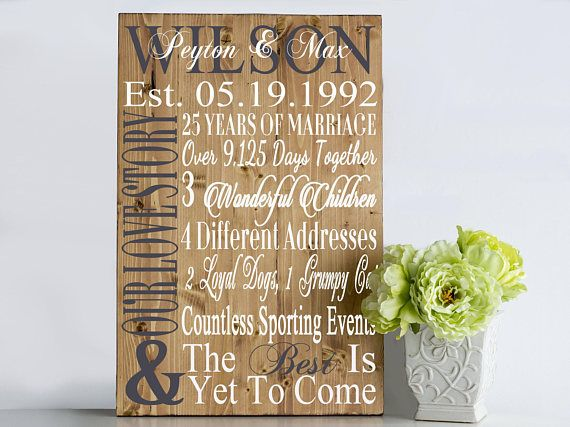 24th Wedding Anniversary Gift Ideas: Best 25+ 25th Anniversary Gifts Ideas On Pinterest