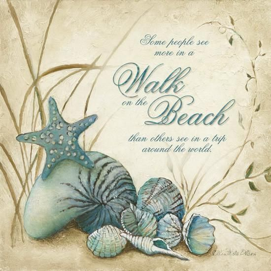 The Beach Art Print by Charlene Winter Olson at Art.com