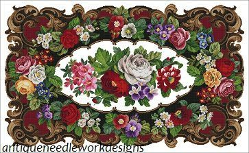 (4) Gallery.ru / Фото #1 - 1900 antique floral tapestry - Aysegul: