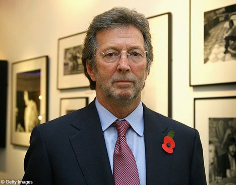 Eric Clapton at a book launch for his autobiography
