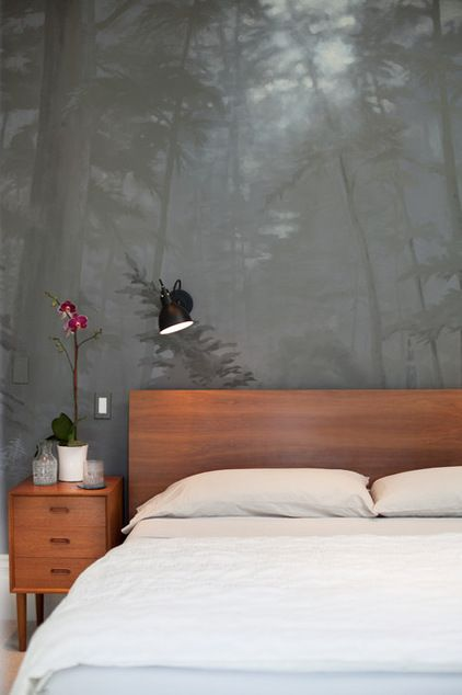 Contemporary Bedroom By Kari McIntosh Design Beautiful Hand Painted Walls