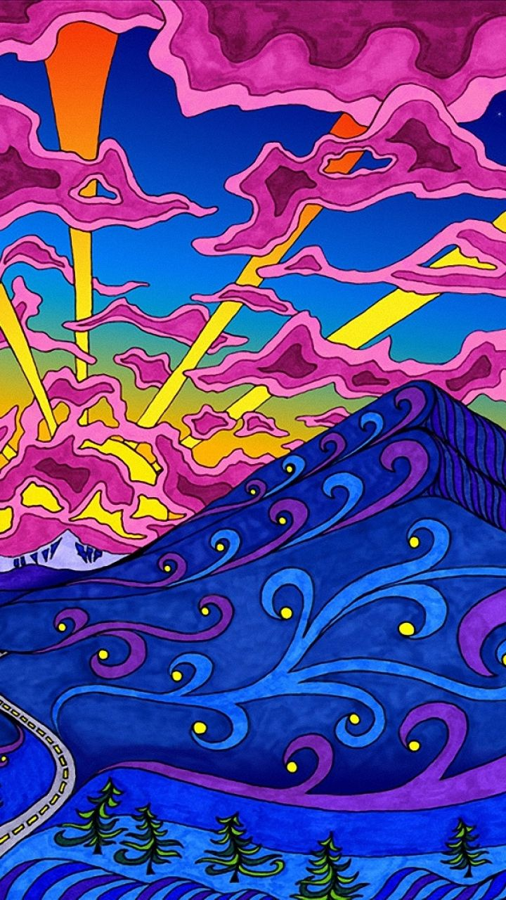 Pin On Psychedelic Wallpapers For Android Trippywally Com