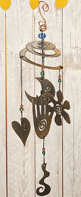 24 best images about bird feeders windchimes on for Wind chimes from recycled materials