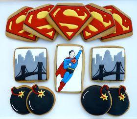 Superman cookie .Oh Sugar Events: Superman Cookies