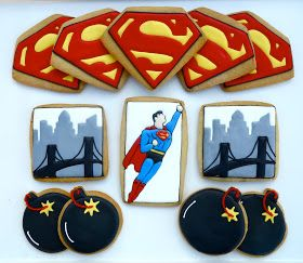 Superman cookie .Oh Sugar Events: Superman Cookies