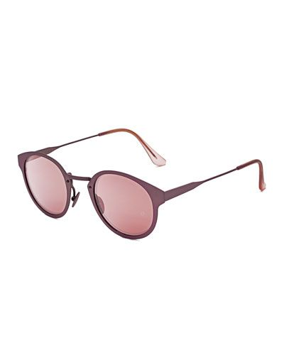 Super+by+Retrosuperfuture+Panama+Synthesis+Round+Sunglasses+Pink+|+Glasses,+Eyewear+and+Accessories