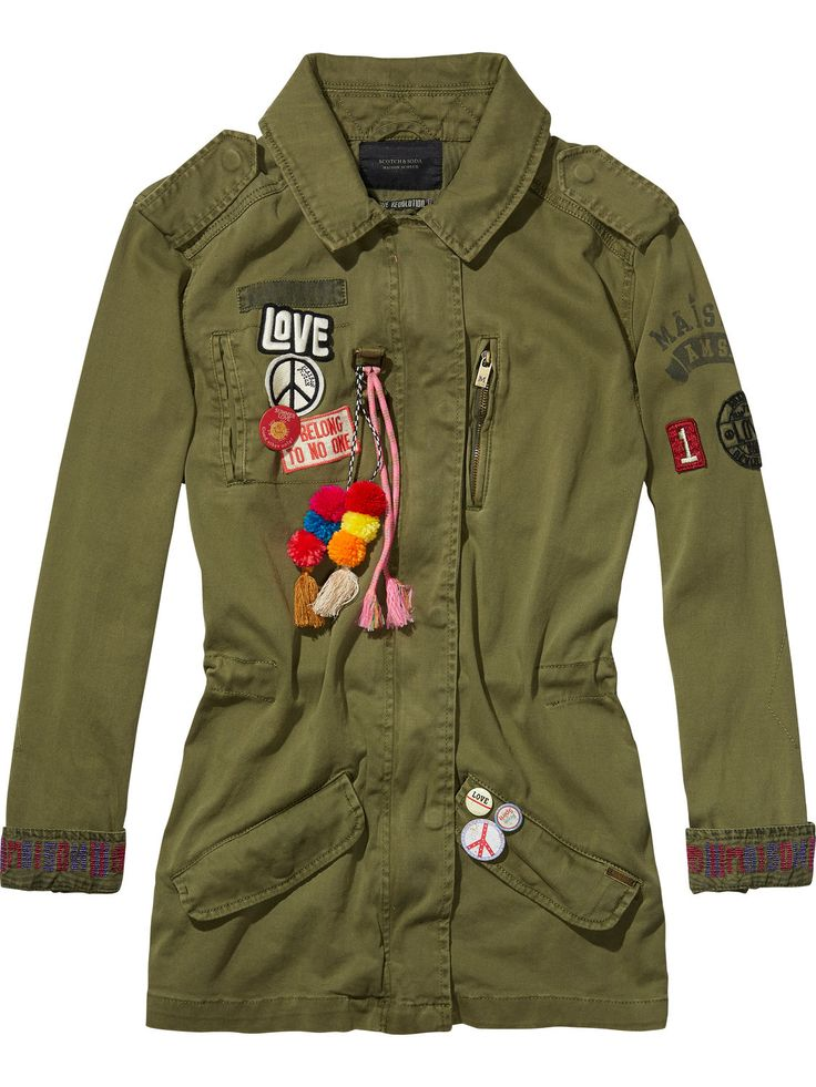 Festival Army Jacket Detailshttps://www.scotch-soda.com/gr/en/women/jackets-coats/army-jackets/festival-army-jacket/131124.html € 245,00