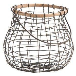 Druciany koszyk na jajka (miedziany) Madam Stoltz