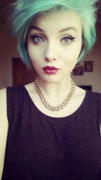 Pinup Makeup Short Blue Hair Scene Short Blue Hair