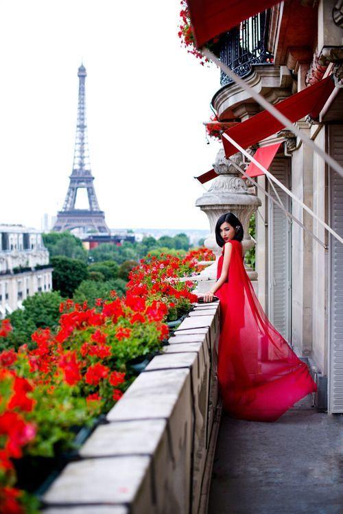 Eiffel Tower via The Rose Garden