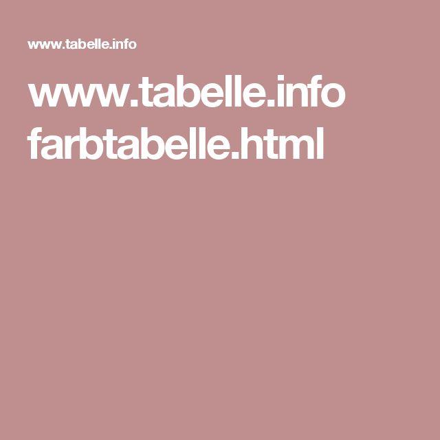 www.tabelle.info farbtabelle.html