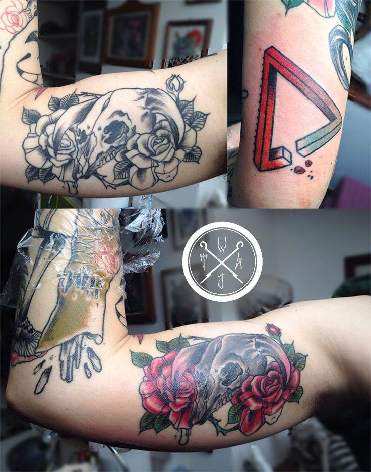Tattoo Sleeve WIP   _www.wobba-jack.com_  #tattoo #tatuaggio #tattoowip #triangletattoo #impossibletriangle #penrosetriangle #neotradional #wobbajack