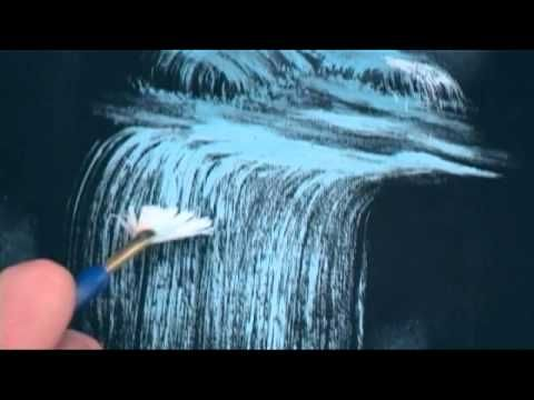 How To Art Tutorial -- Highlighting Waterfalls Using Acrylics - YouTube
