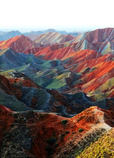 Zhangye Danxia landform in Gansu, China. This is beautiful, but really fun to see all the pins. Amazing!