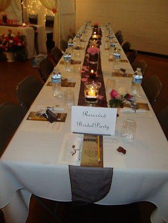 Coffee Themed Wedding Table Centerpiece