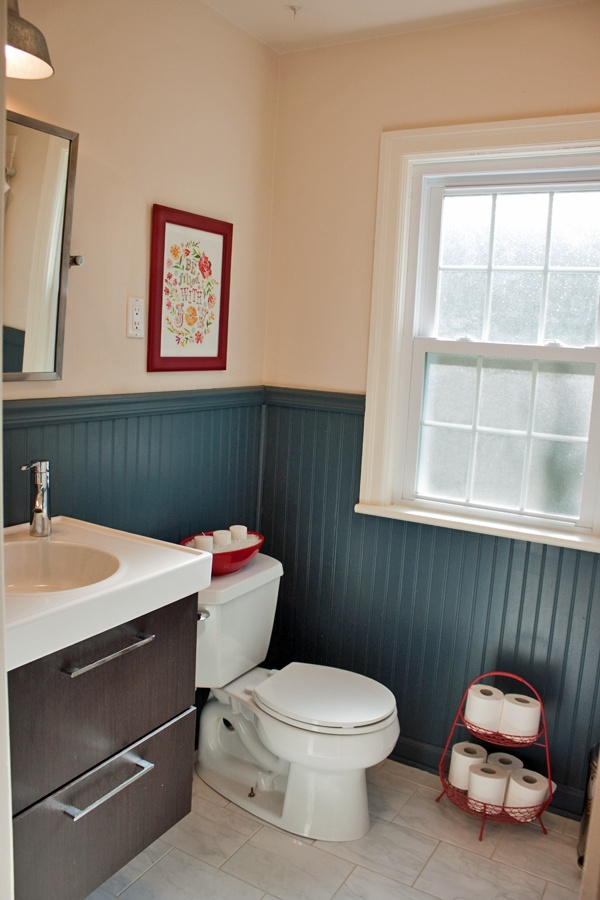 Cute Bathroom With Beadboard Walls For The Home Pinterest