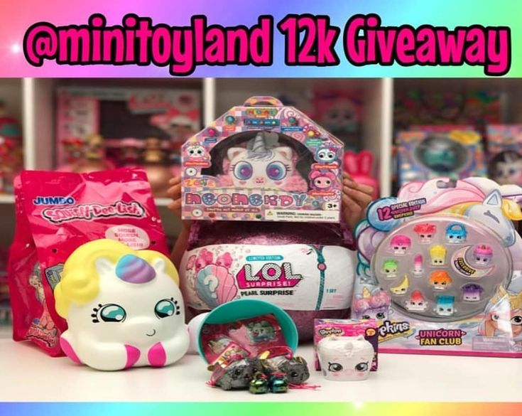 Check out the awesome giveaway by @minitoyland #giveaway #minitoyland12kgiveaway #lolsurprisedolls #lolsurprise #shopkins #squishdelish